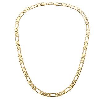 Simon Frank Designs 8mm Figaro Chain (24-inch) Gold Overlay