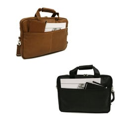 Piel Slim Leather Briefcase