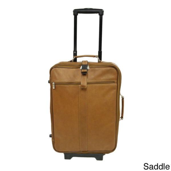 Piel 20-inch Leather Carry-On Upright