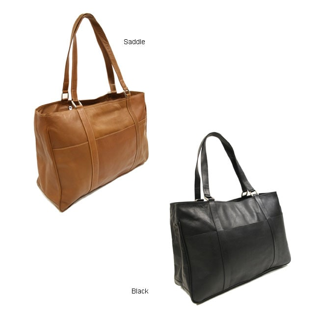 Piel Genuine-leather Spacious Carry-on Tote Bag