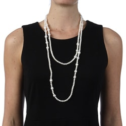 DaVonna White FW 6-7 and 8-9 mm Pearl 60-inch Endless Necklace - Thumbnail 2