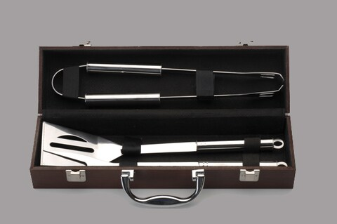 4-piece Mini BBQ Tool Set with Box