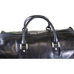 Castello Torino Series 19-inch Carry On Leather Duffel Bag - Thumbnail 1