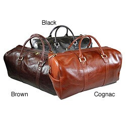 Castello Torino Series 19-inch Carry On Leather Duffel Bag