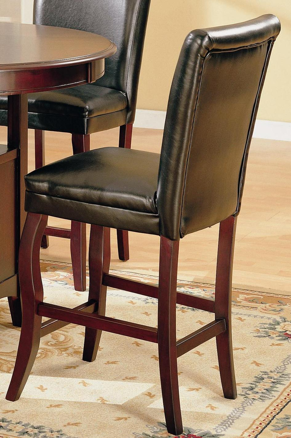 Monarch Black Leather Counter Stools (Set of 2)