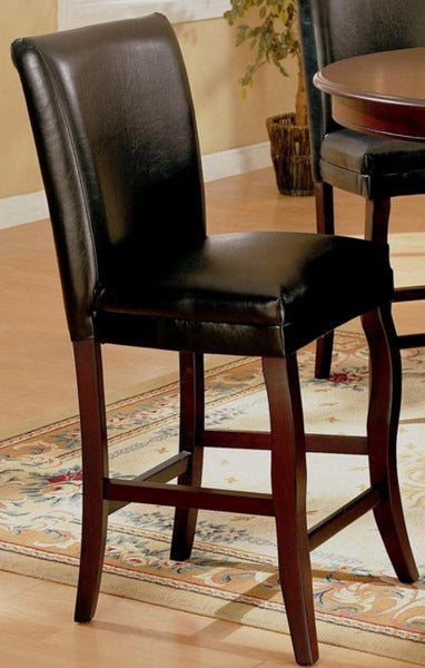 Monarch Black Leather Counter Stools Set Of 2 Free