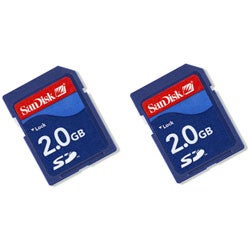 SanDisk 2GB Secure Digital Memory Card (Case of 2)