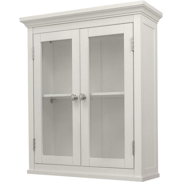 Classique White Wall Cabinet with Two Doors
