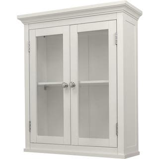 Classique White Wall Cabinet with Two Doors|https://ak1.ostkcdn.com/images/products/3164633/P11286258.jpg?impolicy=medium
