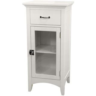 Classique White Single Door/ Single Drawer Floor Cabinet by Essential Home Furnishings|https://ak1.ostkcdn.com/images/products/3164634/P11286259.jpg?impolicy=medium