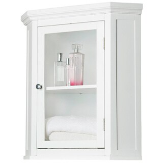 Classique White Corner Wall Cabinet by Elegant Home Fashions