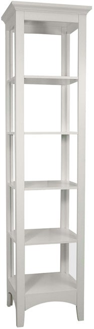 Classique White Linen Tower by Elegant Home Fashions