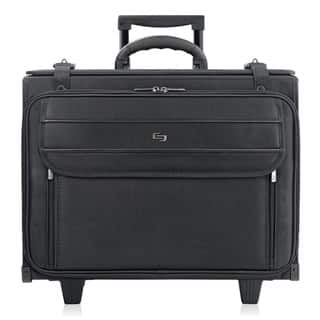 Solo 17 3 Inch Black Laptop Rolling Catalog Case With Hanging File System
