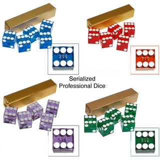 Five Numbered Serialized 19 mm Casino Craps Dice (3 options available)