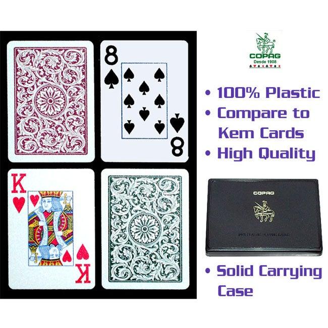 Copag Green/ Burgundy Playing Cards (Two Decks)