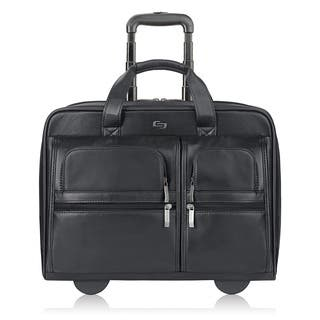 Solo Black Leather Rolling 15-inch Laptop Case|https://ak1.ostkcdn.com/images/products/3166835/P11288202.jpg?impolicy=medium
