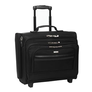 Solo 15.6-inch Laptop Black Rolling Overnighter Case with Removable Sleeve