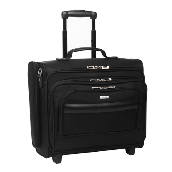 Solo 15.6-inch Laptop Black Rolling Overnighter Case with Removable Sleeve. Opens flyout.