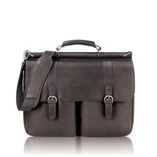 Solo Colombian Padded Leather 16-inch Laptop Briefcase with File Pocket|https://ak1.ostkcdn.com/images/products/3166854/P11288224.jpg?impolicy=medium