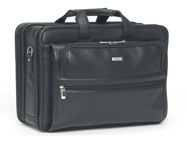 Solo Leather 15.4-inch Laptop Briefcase