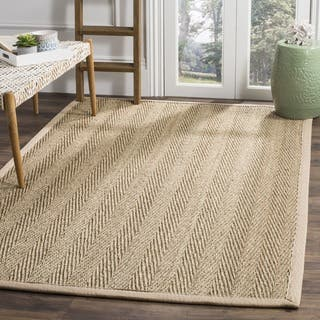 shop size round alert black casual deal fiber rug natural seagrass safavieh