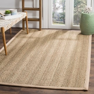 Safavieh Casual Natural Fiber Hand-Woven Sisal Natural / Beige Seagrass Area Rug (6' x 9') - 6' x 9'