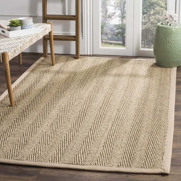 Safavieh Casual Natural Fiber Hand Woven Sisal Natural / Beige Seagrass Area  Rug (6u0026