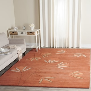 Safavieh Handmade Soho Summer Rust New Zealand Wool Rug (6' Square)