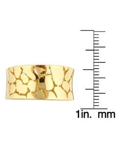Sterling Essentials 14K Gold over Silver Snakeskin Ring