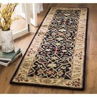 Safavieh Handmade Mahal Black/ Beige Wool Runner Rug - 2'3 x 10'