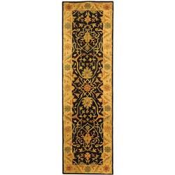 Safavieh Handmade Mahal Black/ Beige Wool Runner (2'3 x 8')