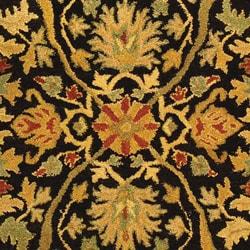 Safavieh Handmade Mahal Black/ Beige Wool Rug (4' x 6') - Thumbnail 1