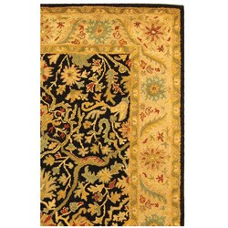 Safavieh Handmade Mahal Black/ Beige Wool Rug (4' x 6') - Thumbnail 2