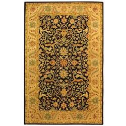 Safavieh Handmade Mahal Black/ Beige Wool Rug (4' x 6') - Thumbnail 0