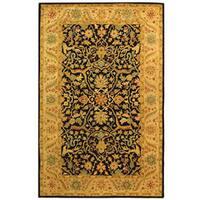 Safavieh Handmade Mahal Black/ Beige Wool Rug - 5' x 8'
