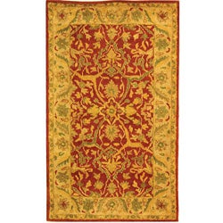Safavieh Handmade Antiquities Mahal Rust/ Beige Wool Rug (3' x 5')