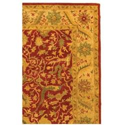 Safavieh Handmade Antiquities Mahal Rust/ Beige Wool Rug (4' x 6') - Thumbnail 2