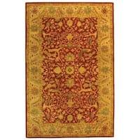 Safavieh Handmade Antiquities Mahal Rust/ Beige Wool Rug - 5' x 8'