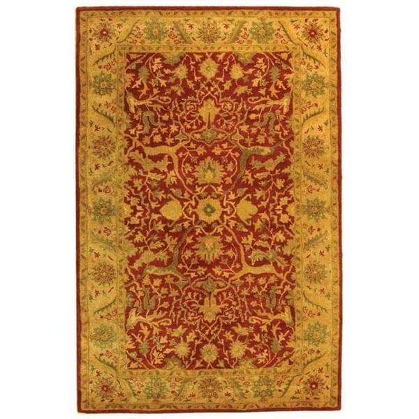 "Safavieh Handmade Antiquities Mahal Rust/ Beige Wool Rug - 9'-6"" x 13'-6"""