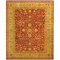 Safavieh Handmade Antiquities Mahal Rust/ Beige Wool Rug (6' x 9')