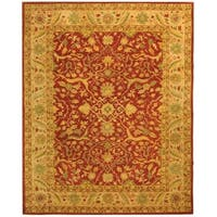 "Safavieh Handmade Antiquities Mahal Rust/ Beige Wool Rug - 7'-6"" x 9'-6"""
