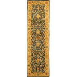 Safavieh Handmade Antiquities Mahal Blue/ Beige Wool Runner (2'3 x 8')
