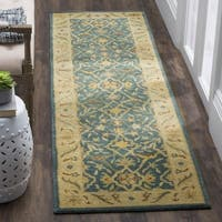 Safavieh Handmade Antiquities Mahal Blue/ Beige Wool Runner Rug - 2'3 x 8'