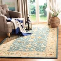 Safavieh Handmade Antiquities Mahal Blue/ Beige Wool Rug - 5' x 8'