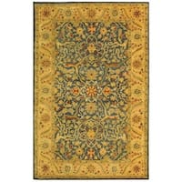 "Safavieh Handmade Antiquities Mahal Blue/ Beige Wool Rug - 9'-6"" x 13'-6"""