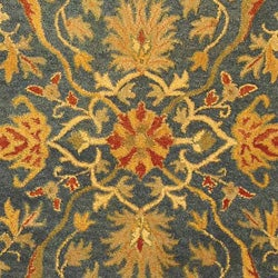 Safavieh Handmade Antiquities Mahal Blue/ Beige Wool Rug (7'6 x 9'6) - Thumbnail 1