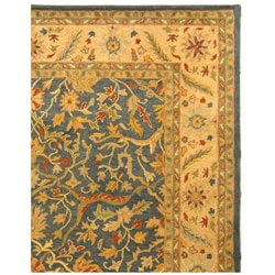 Safavieh Handmade Antiquities Mahal Blue/ Beige Wool Rug (7'6 x 9'6) - Thumbnail 2