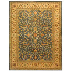Safavieh Handmade Antiquities Mahal Blue/ Beige Wool Rug (8'3 x 11') - Thumbnail 0