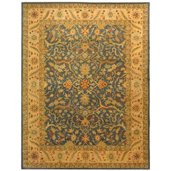 "Safavieh Handmade Antiquities Mahal Blue/ Beige Wool Rug - 8'-3"" x 11'"