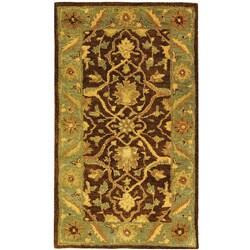 Safavieh Handmade Antiquities Mahal Brown/ Blue Wool Runner (2'3 x 4')